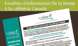 Feuillets d'information De la ferme à la cafétéria Canada