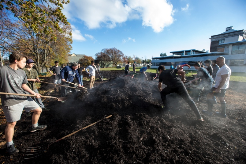 Victoria High students dig in to build a bigger school garden