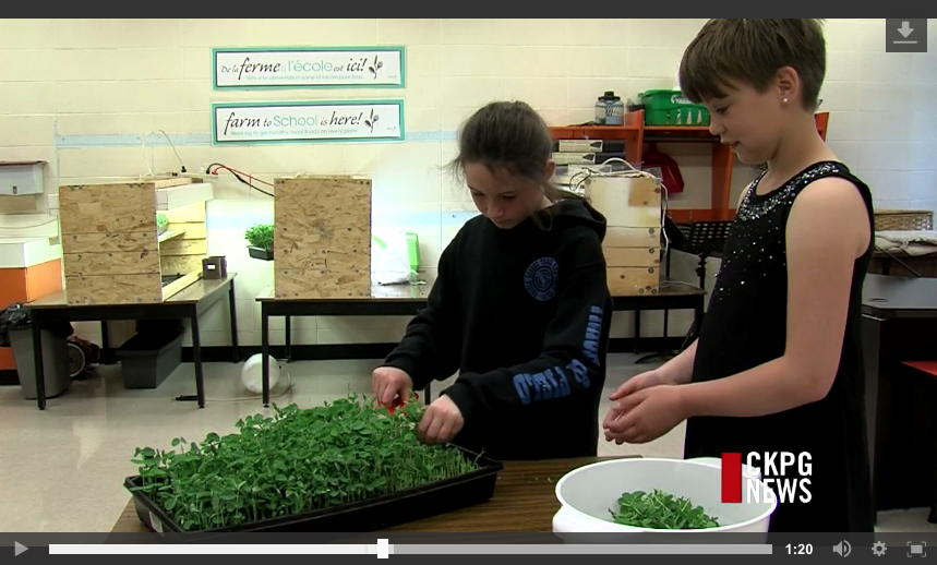 Ecole Franco-Nord Food Program Grows
