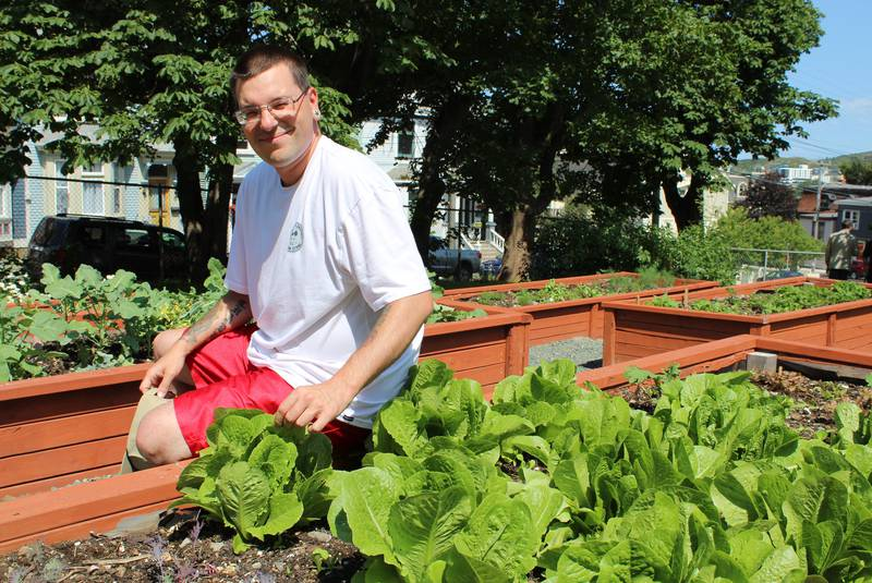 Community garden at The Gathering Place provides, food, structure and meaningful work for guests at St. John's facility