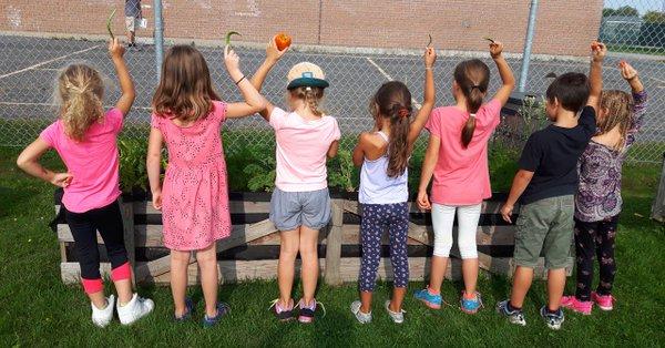 «Le choix santé» d'un service de garde scolaire engagé… de la terre à la table!