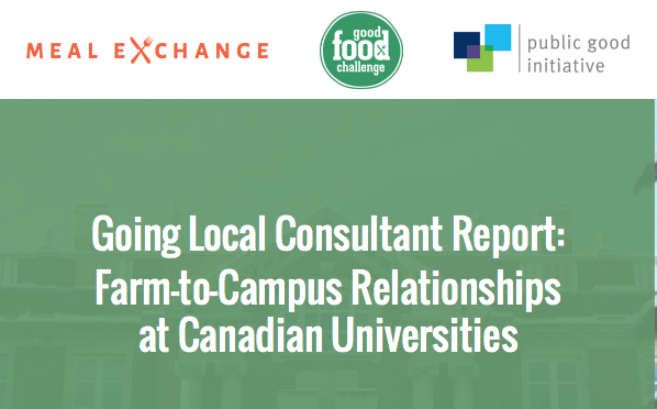 Going Local: Food Procurement on Campus, Farm to Healthcare